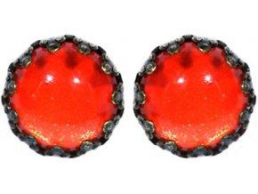 Twisted Lady - červená Náušnice > Puzety - 5450527837637