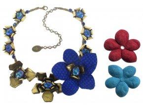 Creepy Flowers - modrá Náhrdelníky - 5450527881289