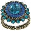 Tribal - modrá/zelená Prsteny - 5450543042459