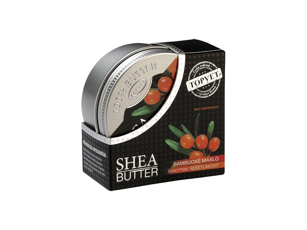 Bambucké máslo (shea butter) s rakytníkem 100 ml (TOPVET)