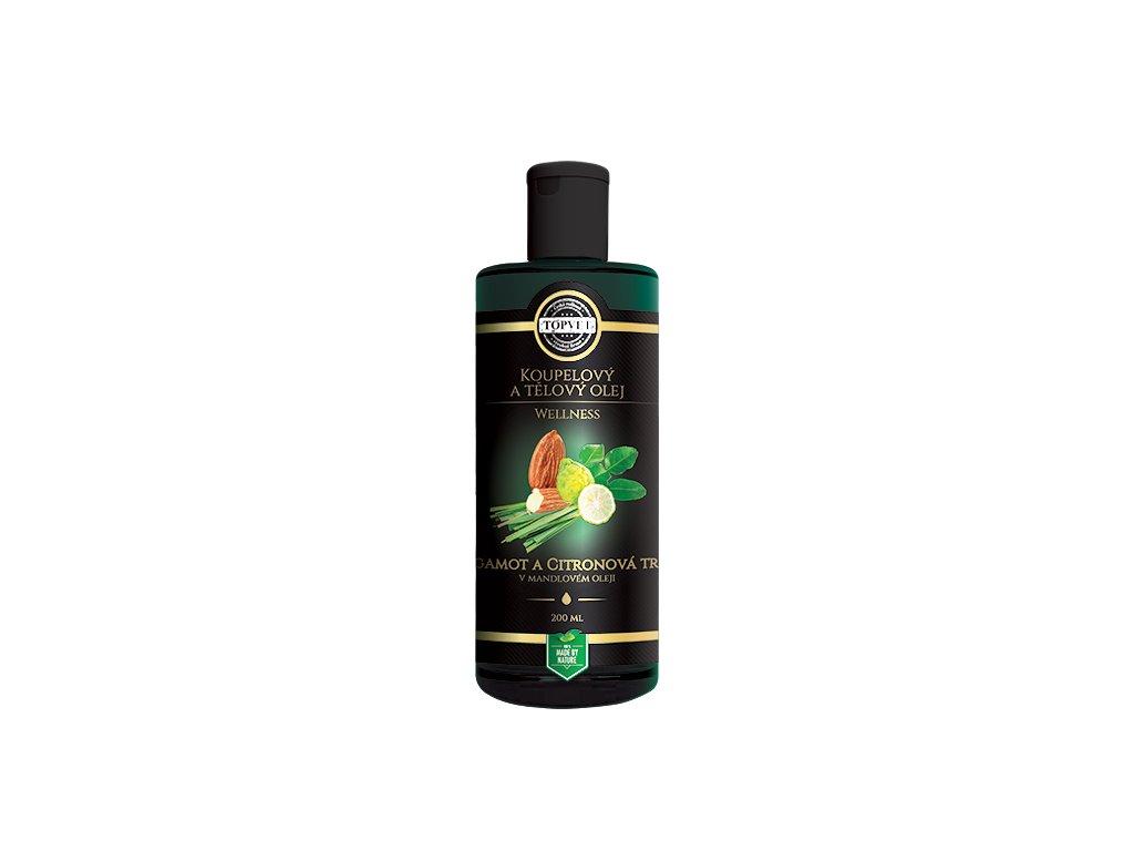 Bergamot a citronová tráva v mandlovém oleji 200 ml (TOPVET)