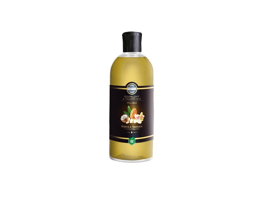 Kokos a vanilka v mandlovém oleji 500 ml (TOPVET)