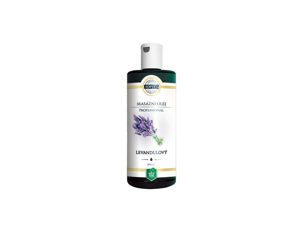 Levandulový masážní olej 200 ml (TOPVET)