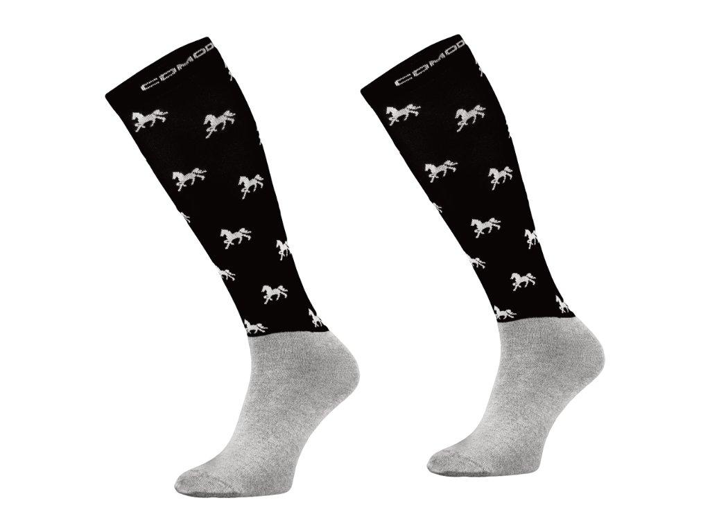 Podkolenky Comodo Microfibre horse (black)
