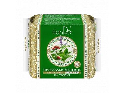 Dámské bylinné vložky Nefritová svěžest denní super, 10 ks (TianDe)