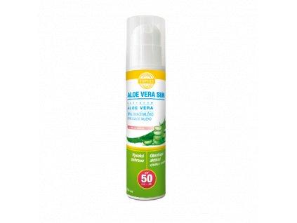 Aloe vera opalovací mléko SPF 50, 200 ml (Topvet)