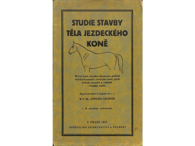 Studie stavby těla jezdeckého koně 1