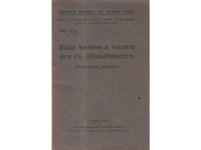 122 jizda konmo a vozmo pro cs delostrelectvo 1921