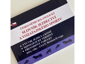 Česko-německo-anglický slovník jezdectví a vozatajského sportu - poškozený kus (František Lomský)