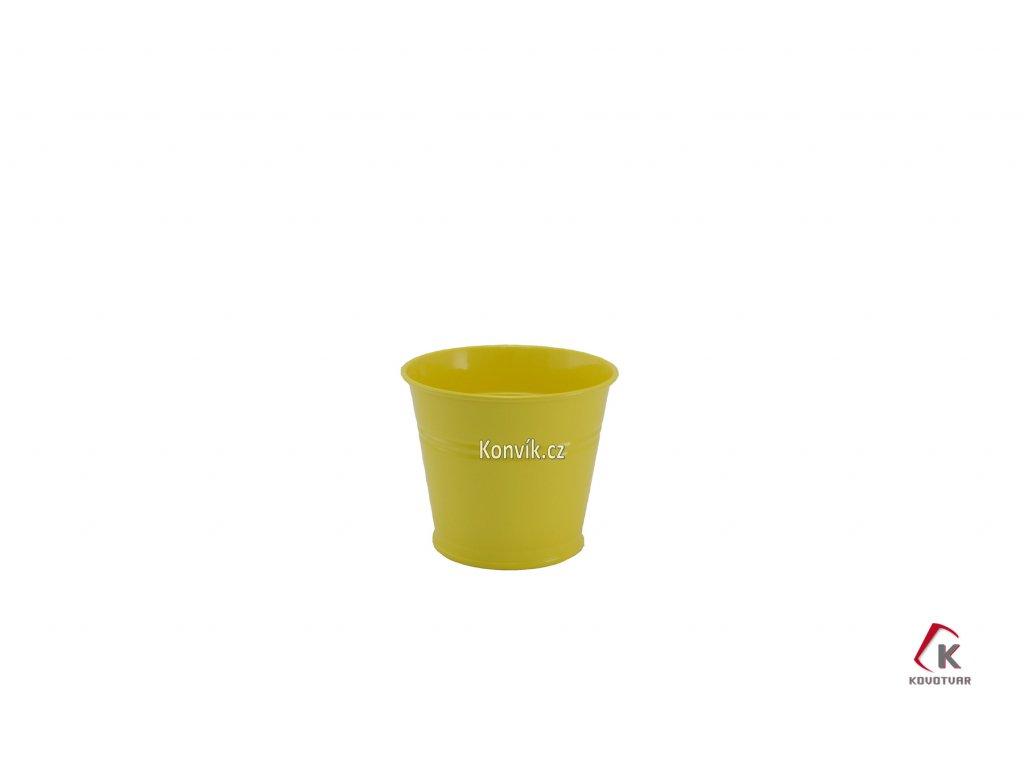 Květináč žlutý 1,5l plechový