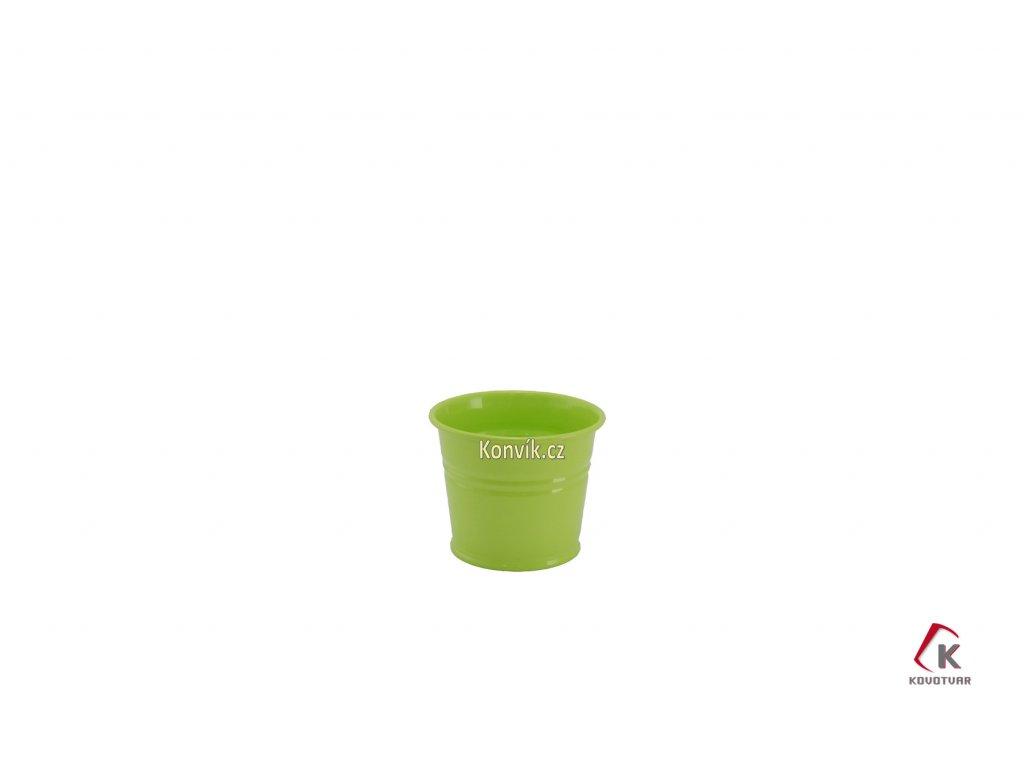 Květináč světle zelený 0,8 l plechový