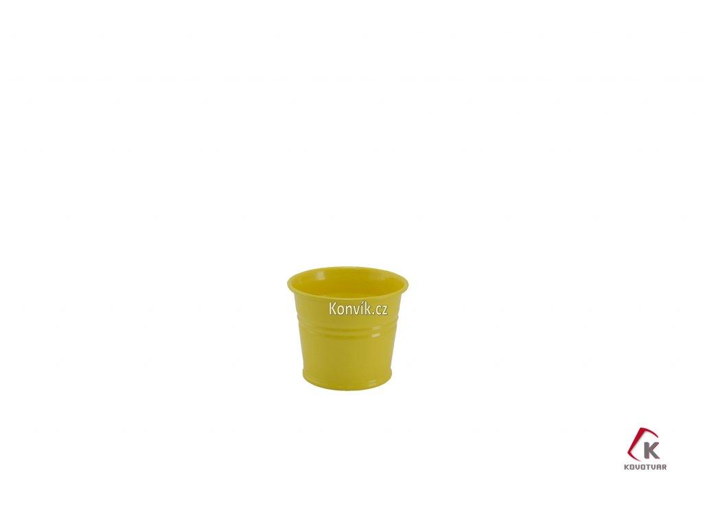 Květináč světle žlutý 0,8 l plechový