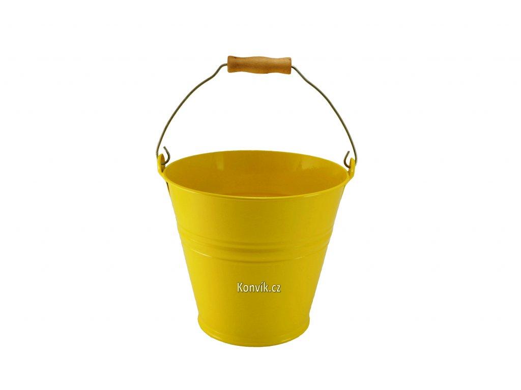 Vědro plechové žluté 8l