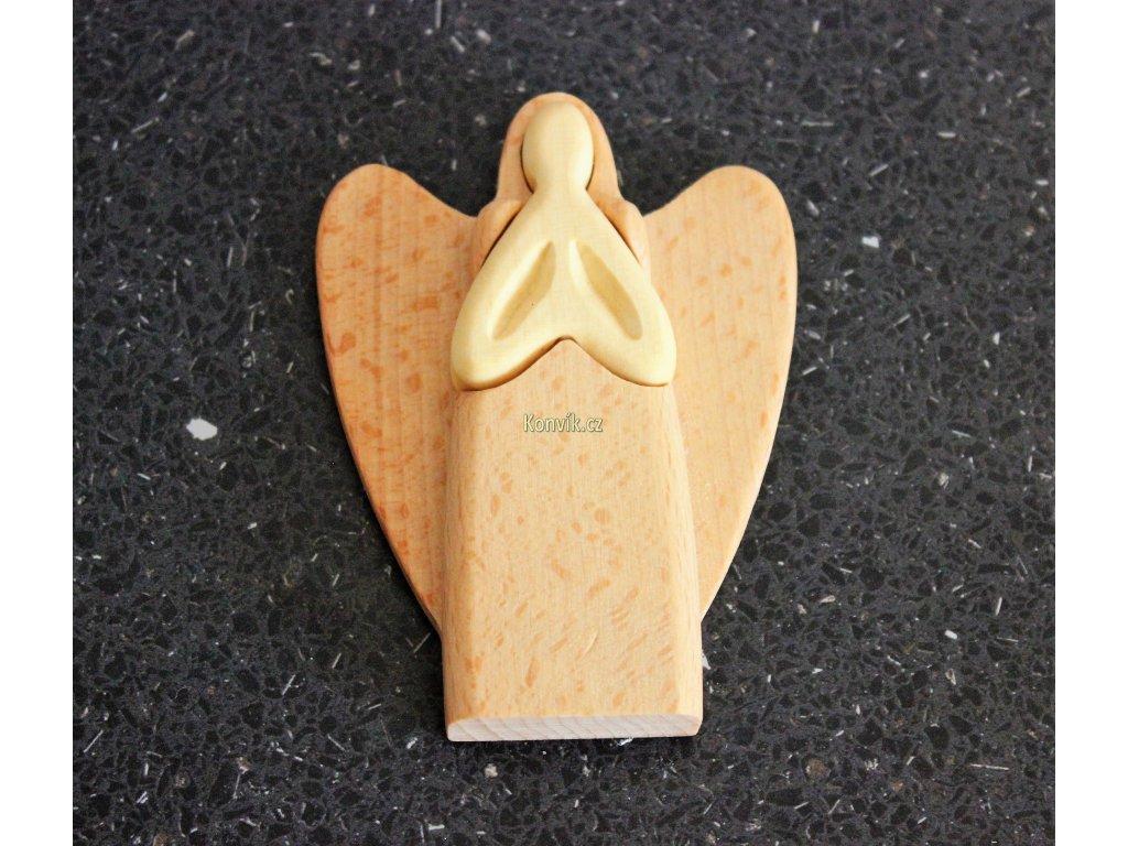 Dřevěný anděl z masivu mini
