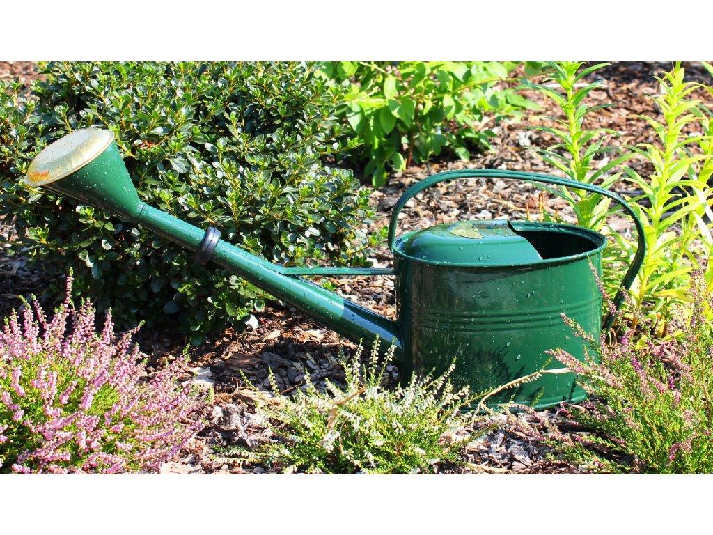 Zahradní konev oválná tmavě zelená 4l pozinkovaná