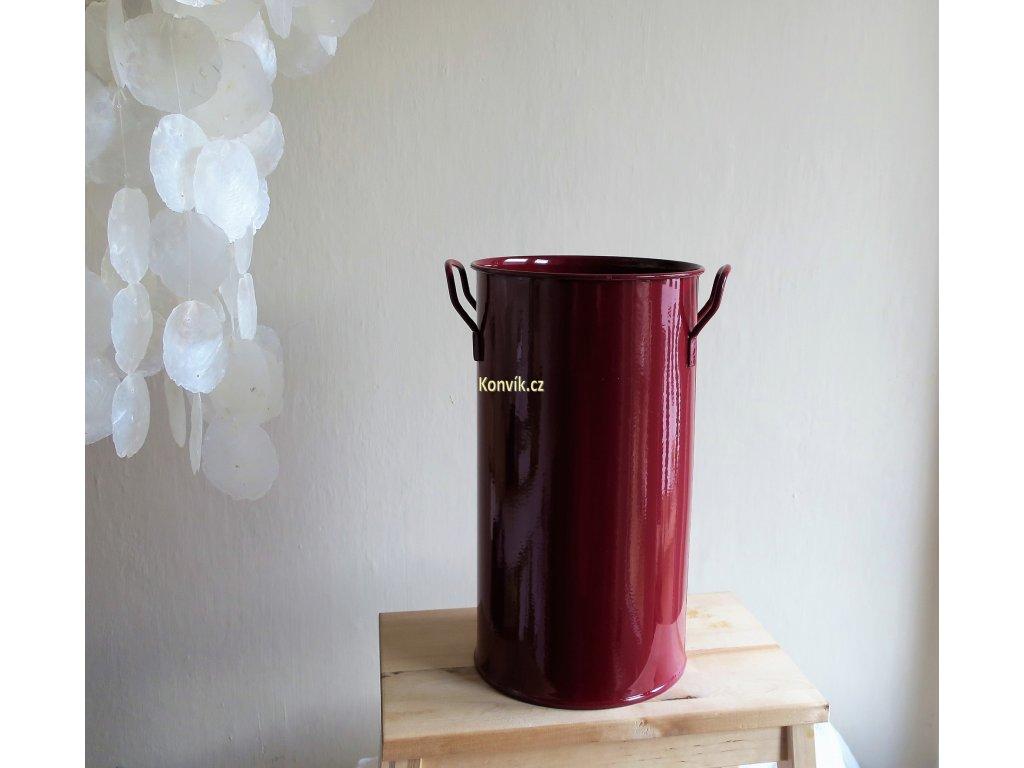 Váza válcová D vínová