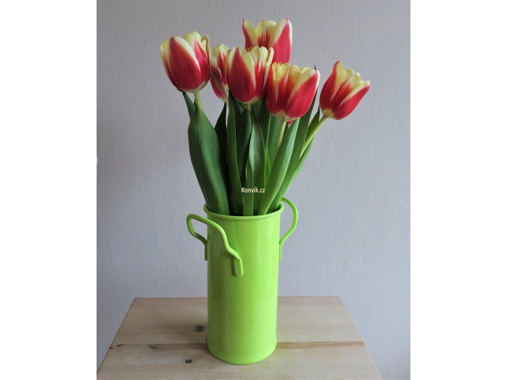 Váza malá zelenkavá ucha květiny