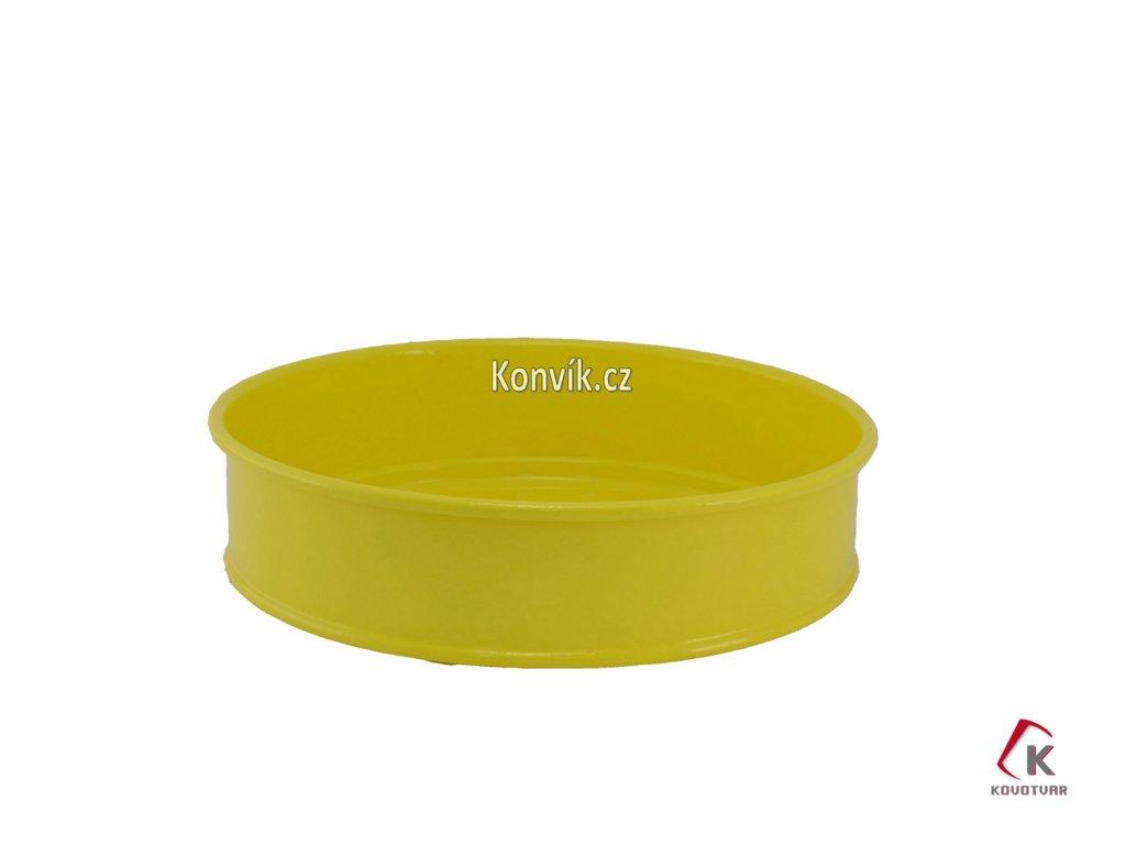 Plechový tác žlutý