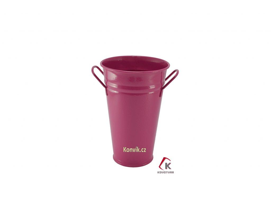 Váza kónická fialová 30 cm pozinkovaná