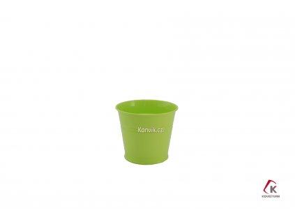 Květináč zelený 1,5l plechový