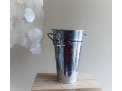 Váza kónická stříbrná
