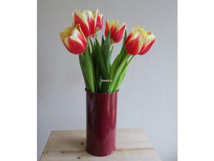 Váza malá vínová bezucha květiny