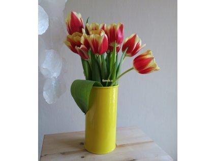 Váza malá žlutá bezucha květiny