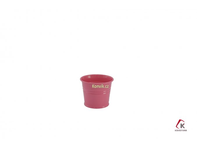 Květináč růžový 0,8 l plechový