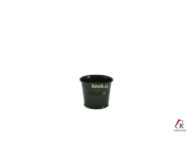 Květináč tmavě zelený 0,8 l plechový