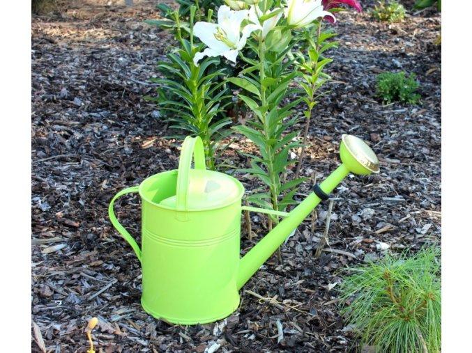 Zahradní konev zelenkavá 9l pozinkovaná