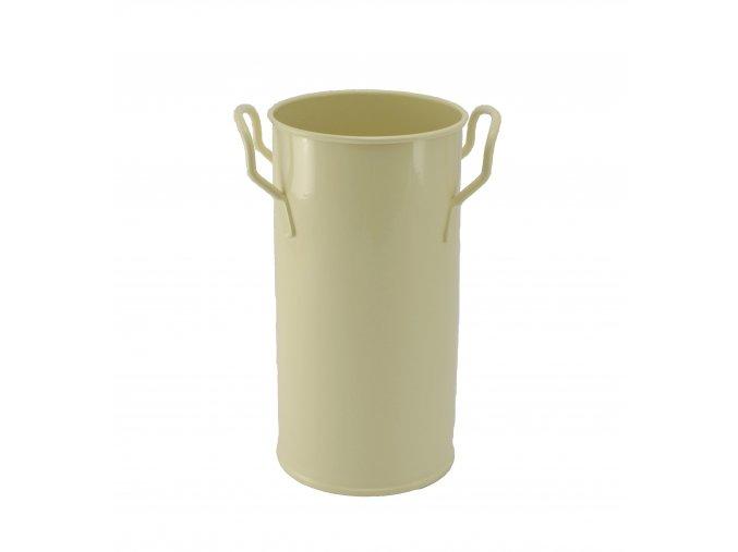 Váza válcová pozinkovaná bílá 35 cm