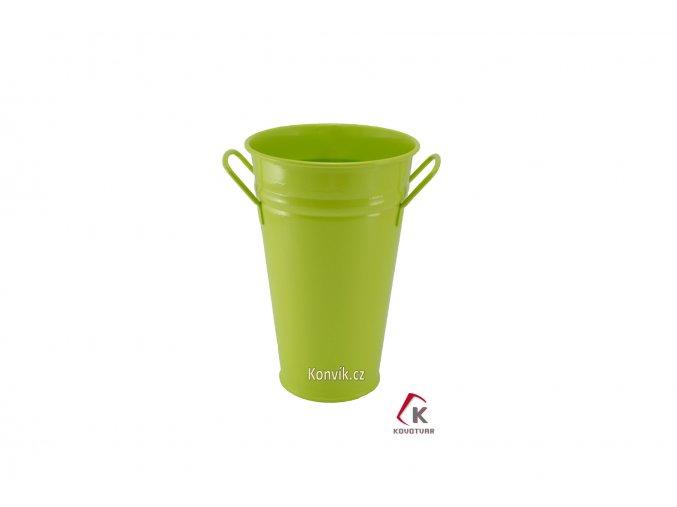 Váza kónická světle zelená 30 cm pozinkovaná