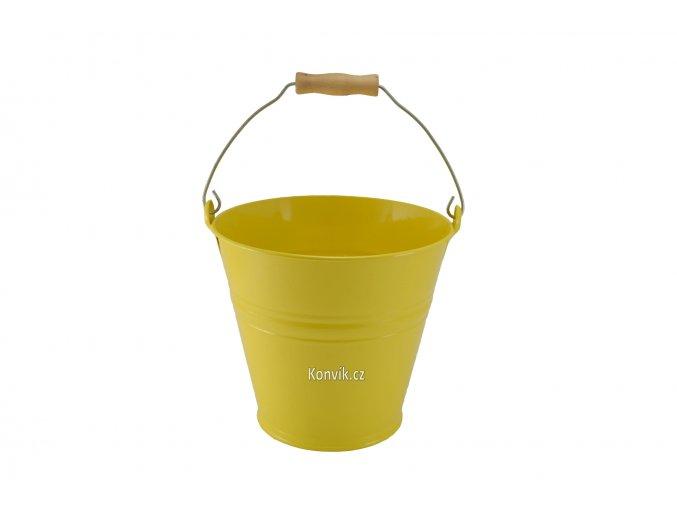 Vědro plechové žluté 4l