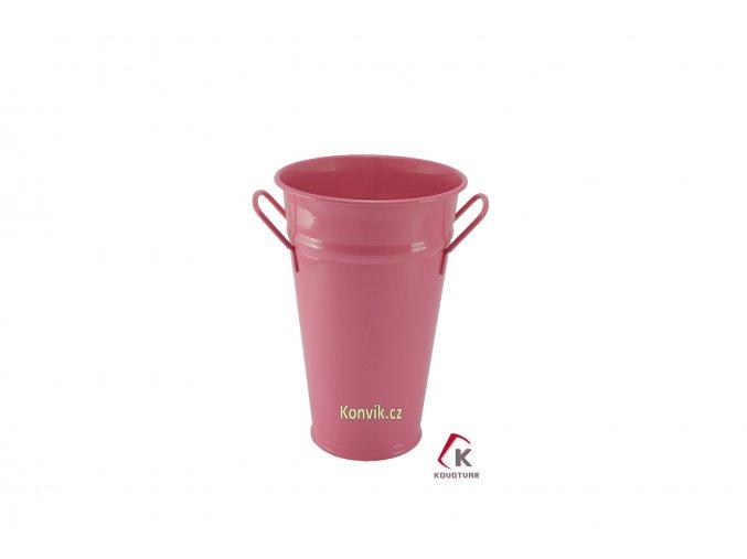 Váza kónická růžová 30 cm pozinkovaná