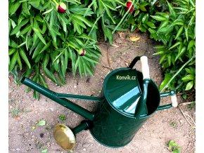 Zahradní konev královská 9l tmavě zelená pozinkovaná