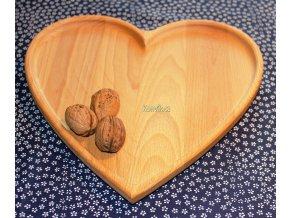 Dřevěný tác z masivu SRDCE