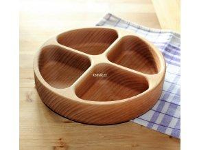 Dřevěná miska z masivu KULATÁ dělená