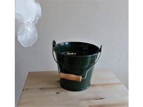 Minivědro tmavě zelené