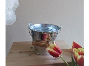 Minivědro stříbrné pozink