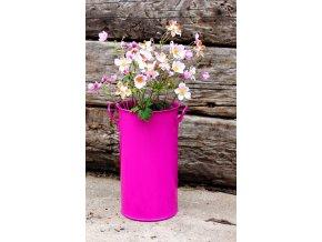 Váza válcová fialová 35 cm