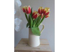 Džbánek slonovinový květiny
