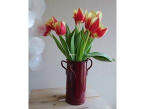 Váza malá vínová ucha květiny