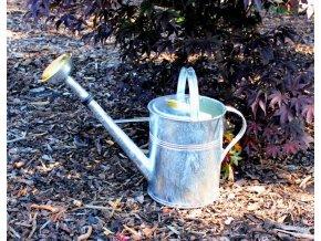 Zahradní konev stříbrná 9l - pozinkovaná