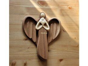 Dřevěný anděl z masivu velký nová zásoba
