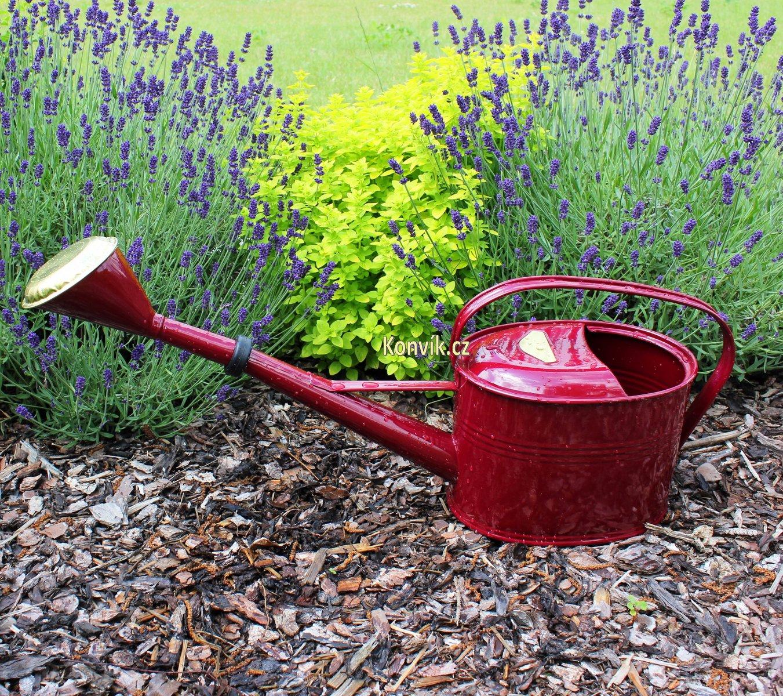 Zahradní konev oválná vínová 4l pozinkovaná