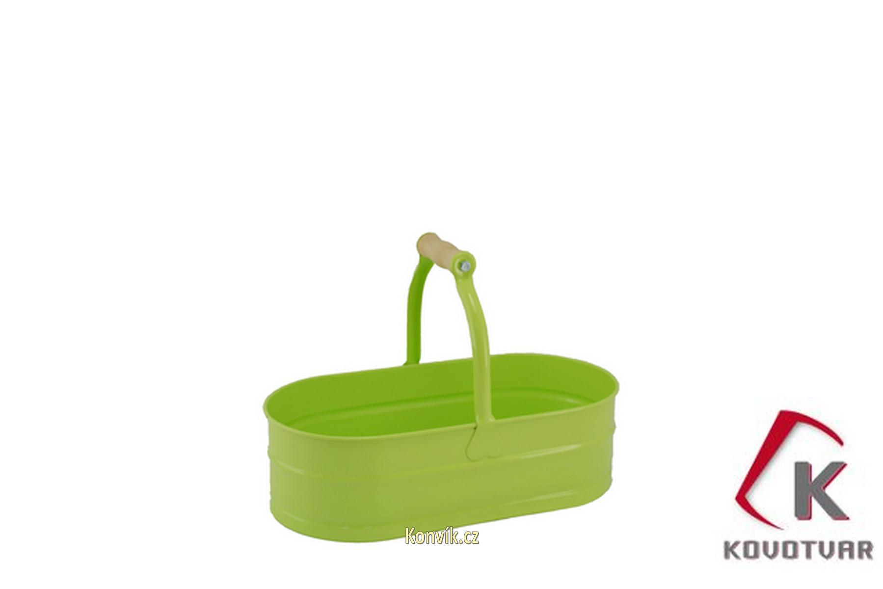 Plechový koš 4l zelenkavý