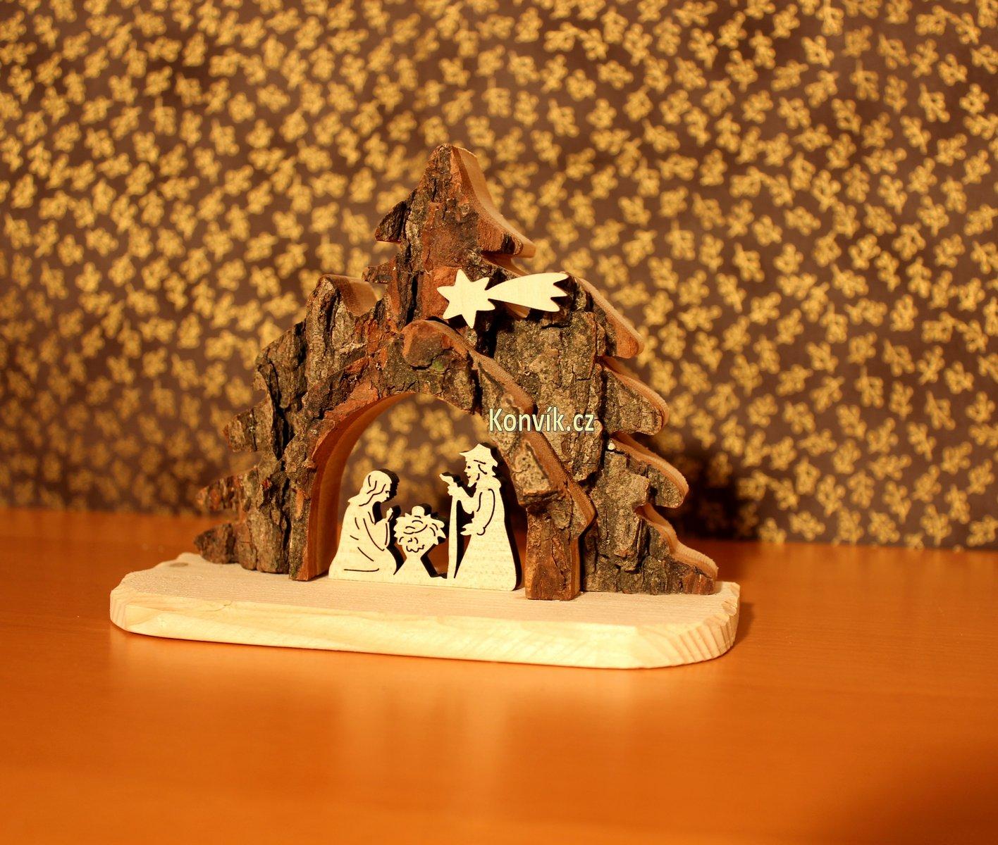 Dřevěný betlém z masivu malý