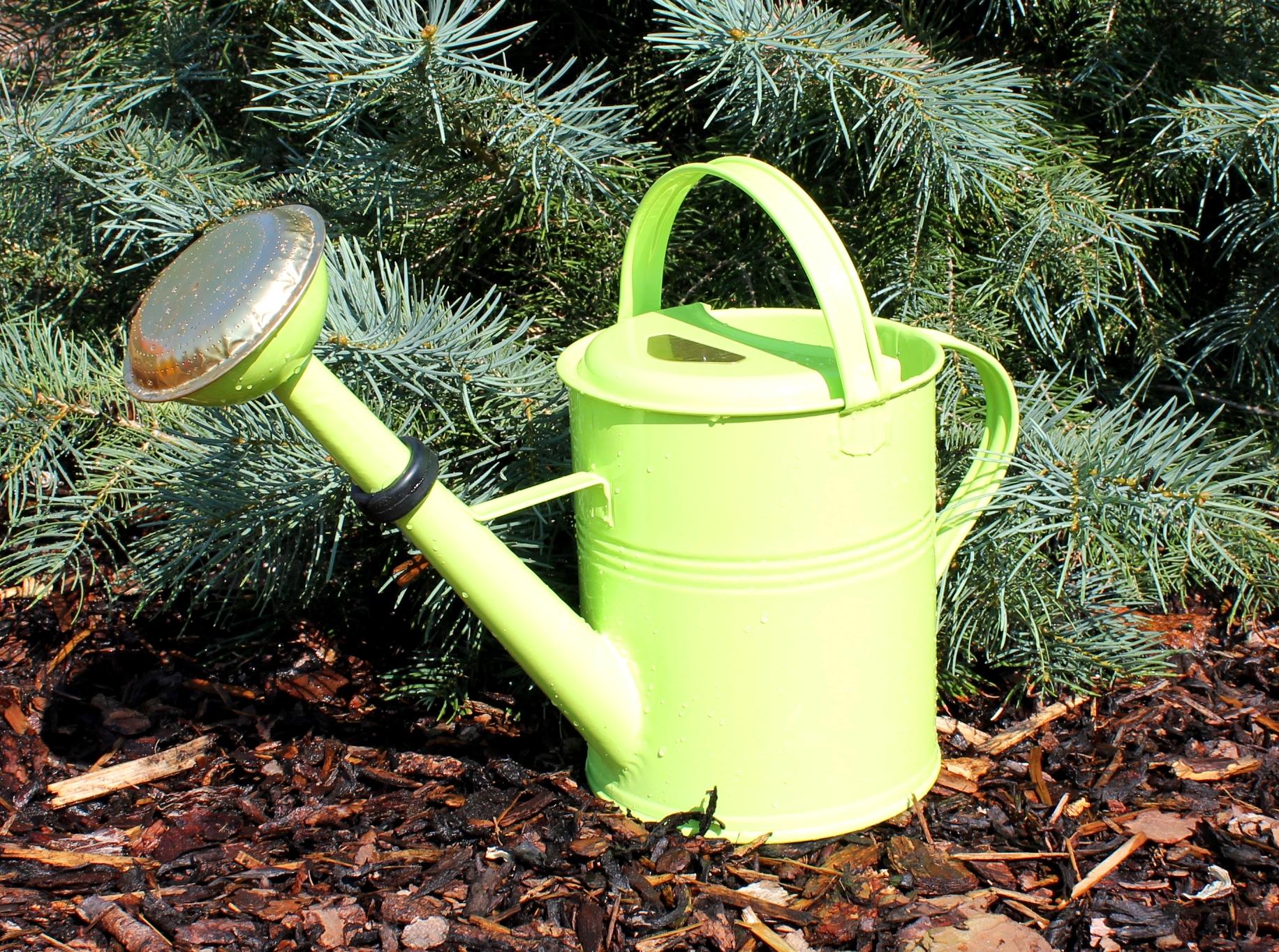 Zahradní konev zelenkavá 5l pozinkovaná