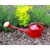 Zahradní konev oválná královsky červená 4l pozinkovaná