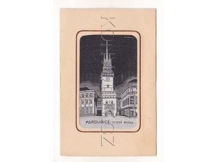 Pardubice věž náměstí látková ČB 3a